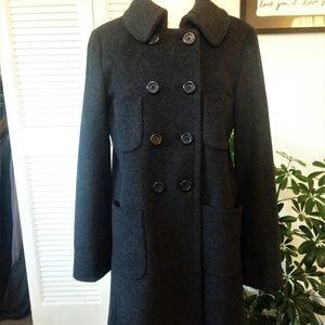 J.Crew Classic Wool Winter Pea Coat - Grey